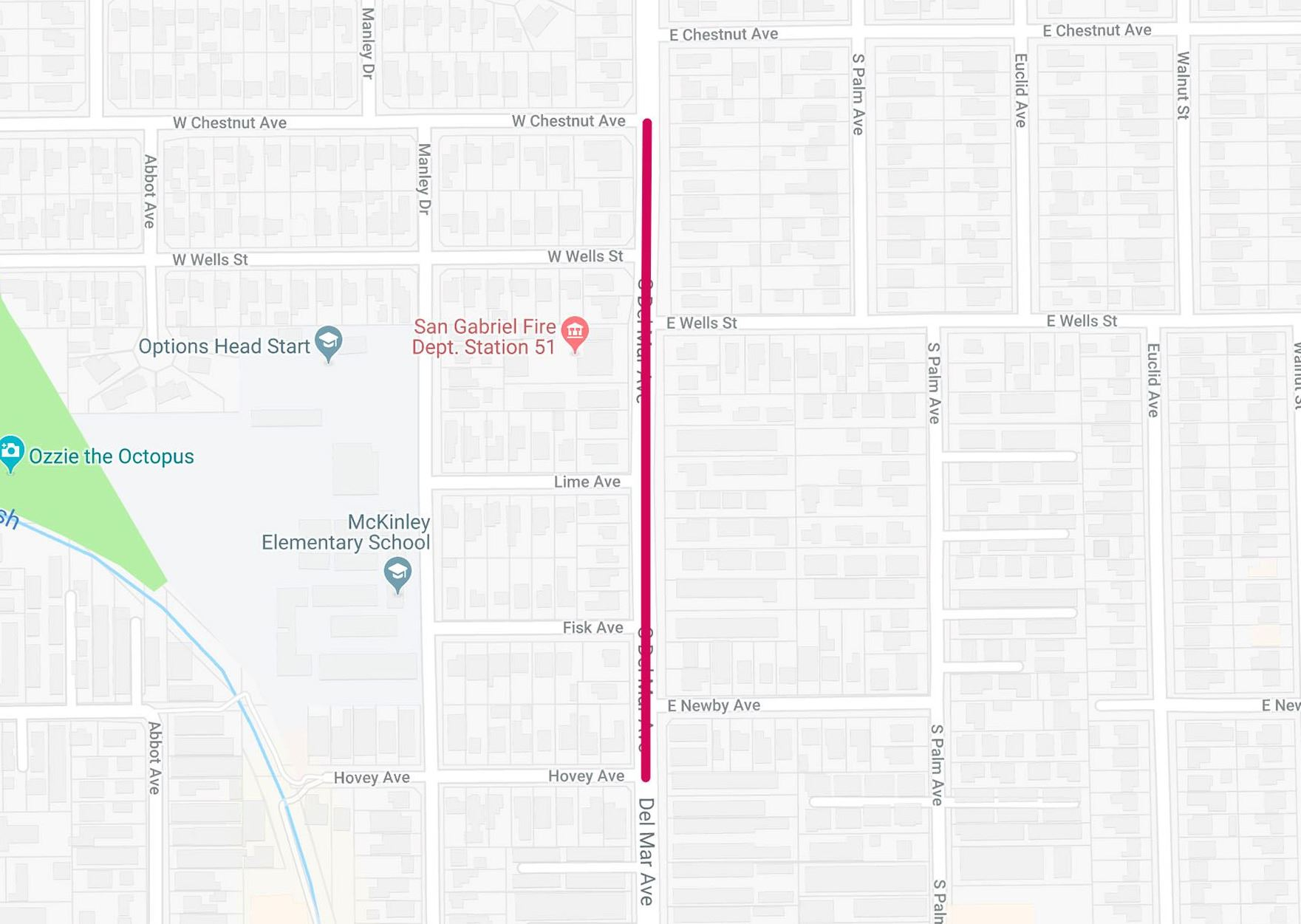 Road work on Del Mar Avenue from Hovey Avenue to Chestnut Avenue to begin March 11