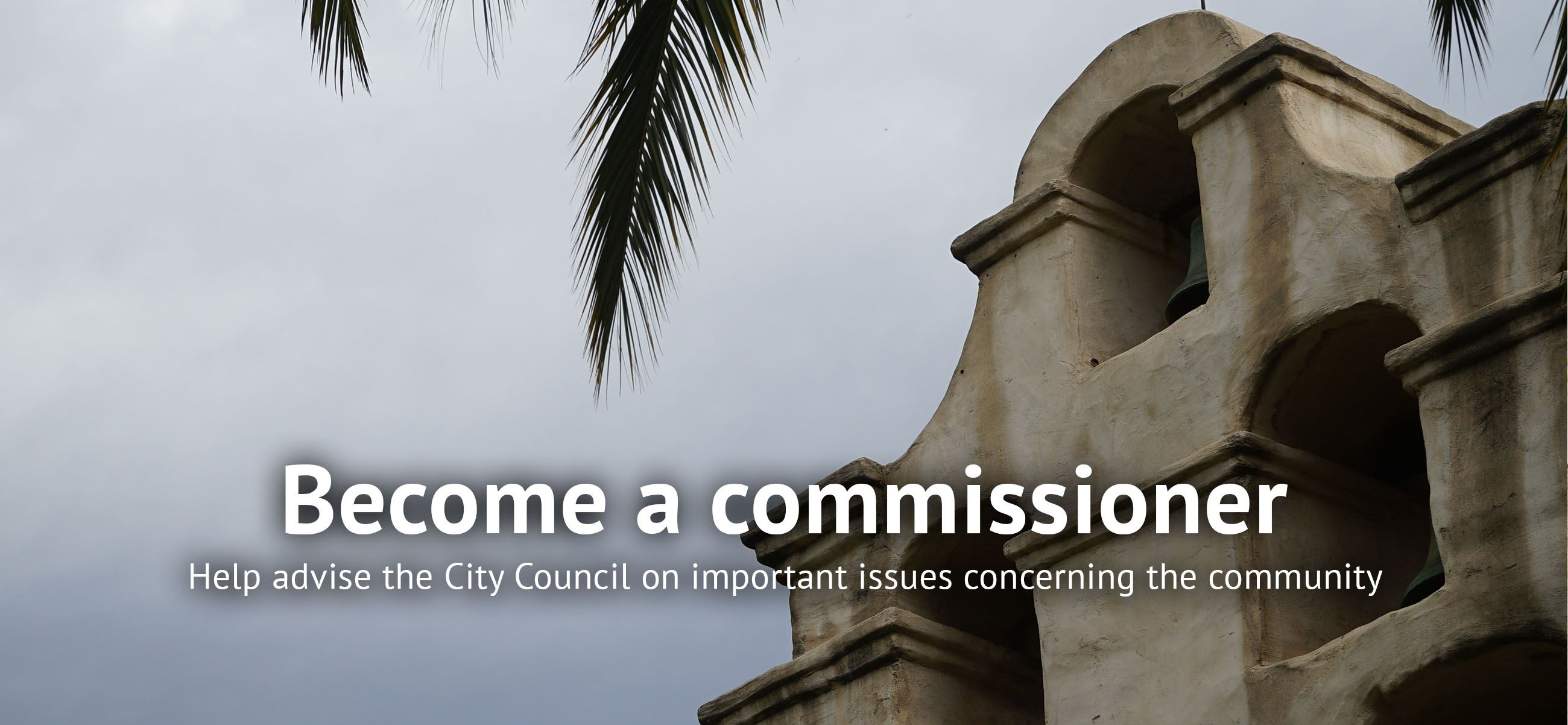 Help advise the City Council on important issues concerning the community
