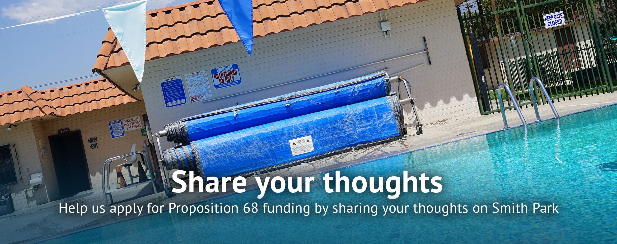 Help us apply for Proposition 68 funding by sharing your thoughts on Smith Park