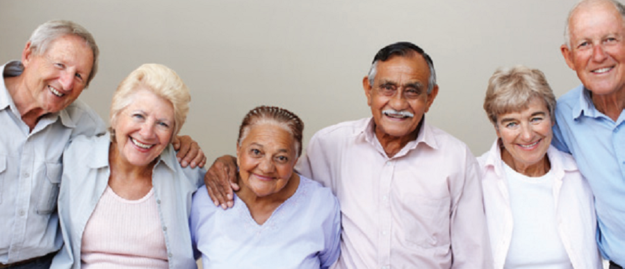 Group photo of older adults