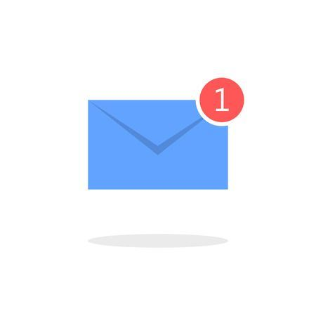 blue envelope email notification alert icon