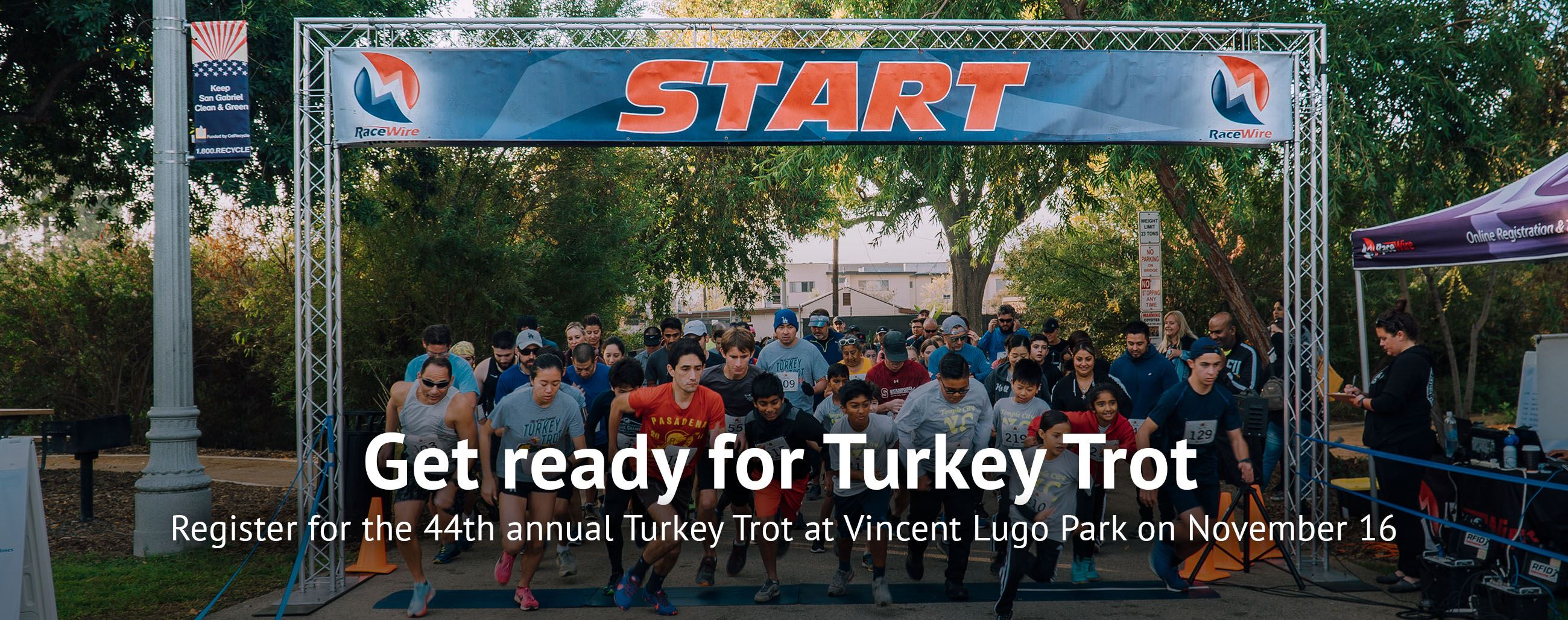Turkey Trot - Register for the 44th annual Turkey Trot at Vincent Lugo Park on November 16