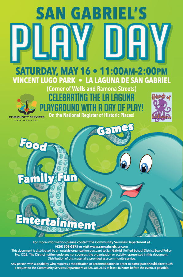 Play Day Flyer, Green Octopus
