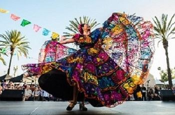 CINCO DE MAYO- folklorico dancer with colorful dress