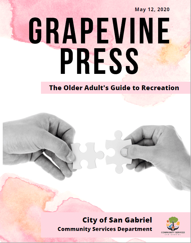 Grapevine Press - includes image of two hands putting two puzzle pieces together.