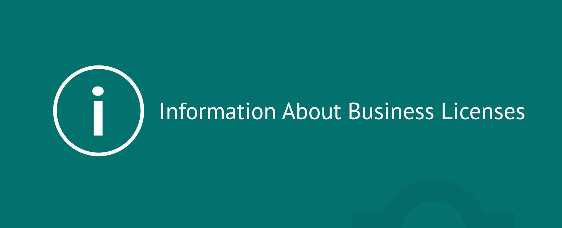 Information About Business Licenses