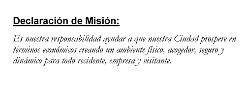 Mission statement Spanish