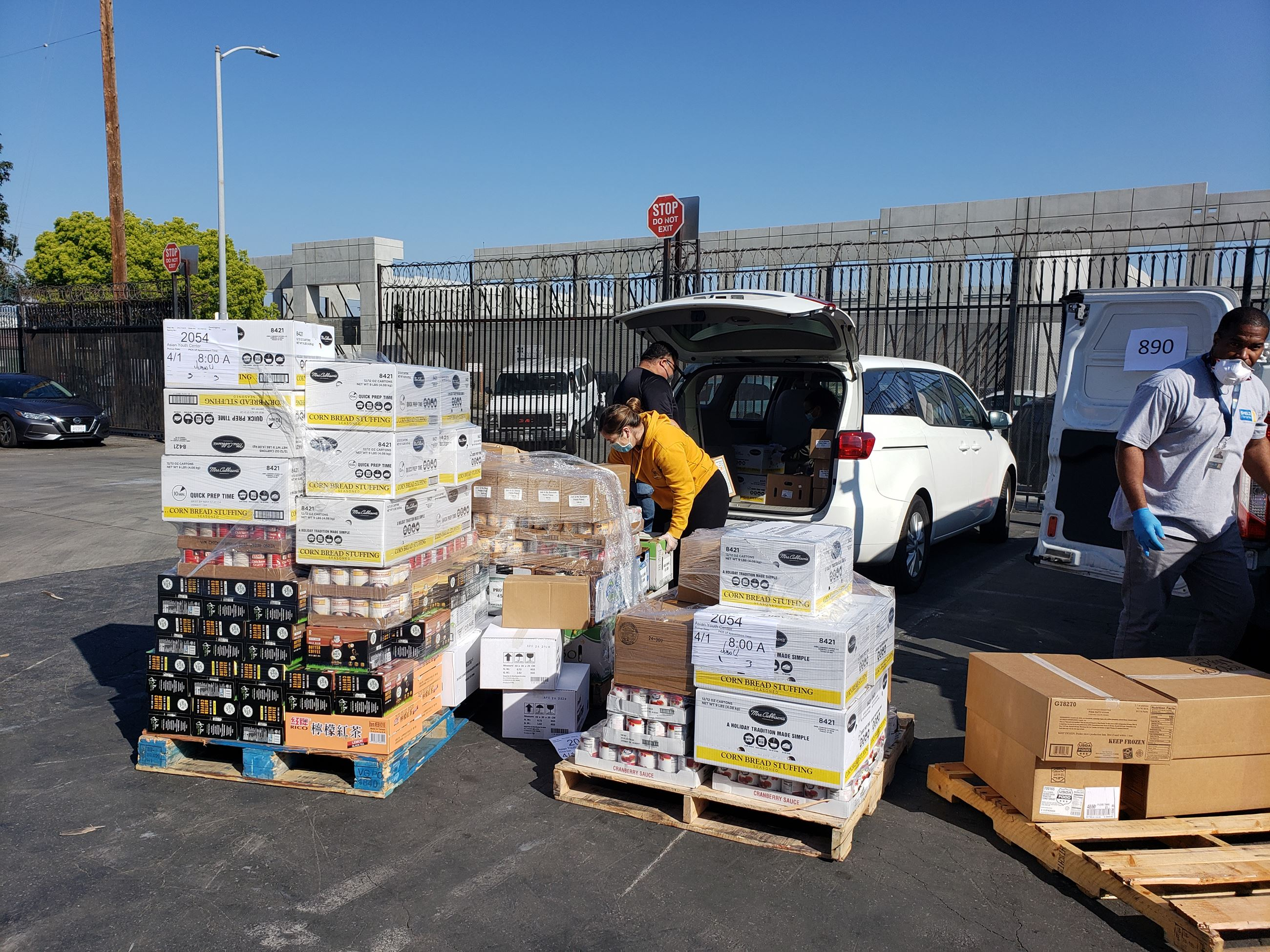 Asian Youth Center's food bank