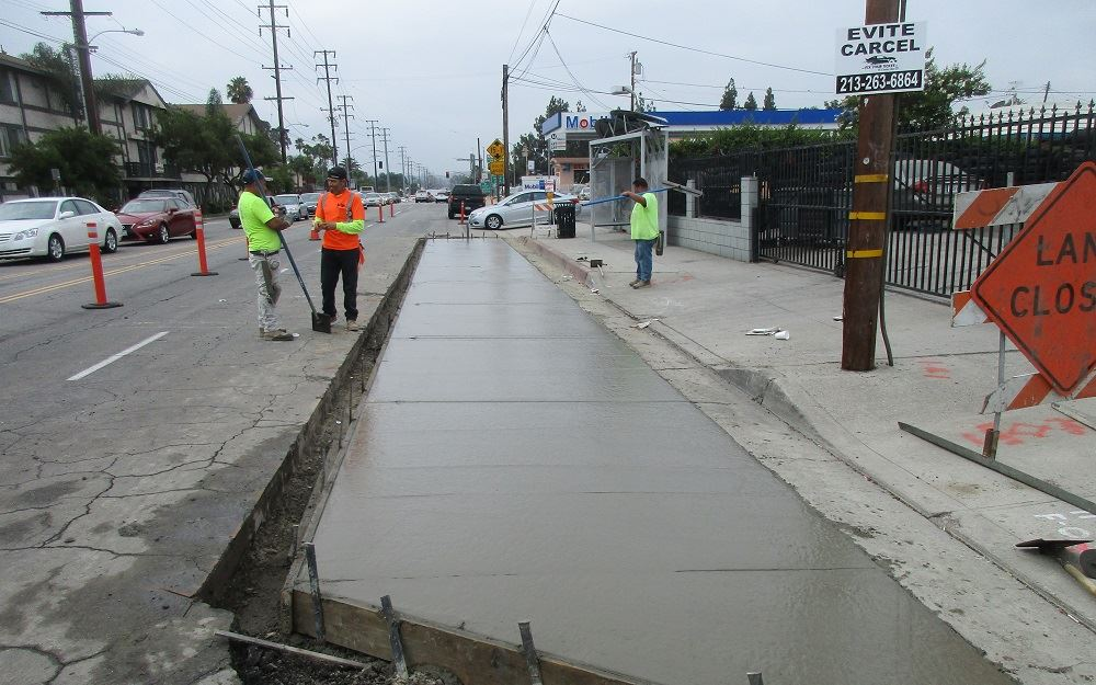A new bus pad along Del Mar Avenue