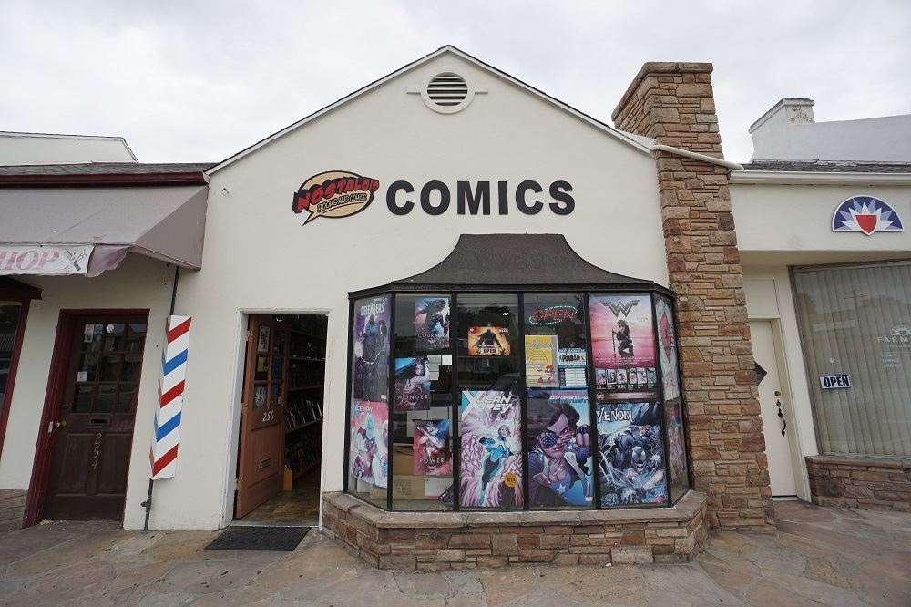 Nostalgic Books and Comics' storefront