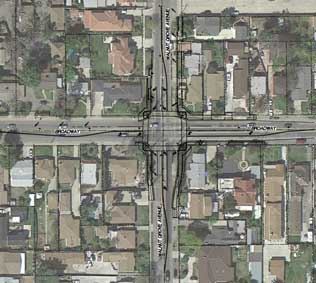 Broadway & Walnut Grove Ave. Intersection